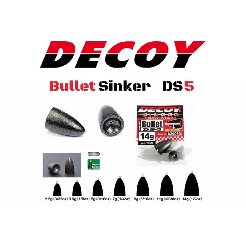 Plumbi Decoy DS-5 Type Bullet 11g  3buc/plic