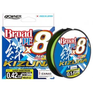 Fir textil Owner Kizuna X8 Broad Super Chartreuse 135m 0.19mm 11.90kg