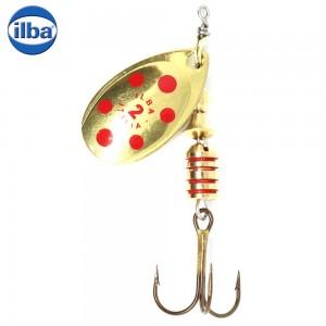 Lingurita Rotativa Ilba Tondo Decorated Gold/Red Nr 3 7g