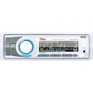 Radio CD Boss Marine Alb MR752UAB AM/FM 4x60W MP3/BT/CD/SD Single DIN