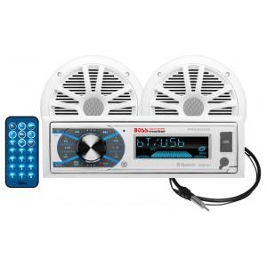 Sistem Audio Boss Marine Alb MR632UAB 200W AM/FM CD player digital, bluetooth, 2 boxe cu antena