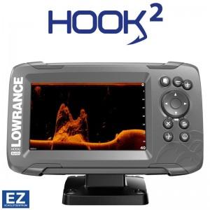 Sonar Lowrance Hook2 5X Cu SplitShot Transducer si GPS