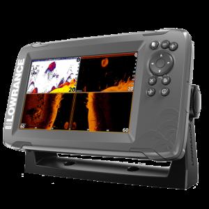 Sonar Lowrance Hook2 7X Cu TripleShot Transducer Si GPS
