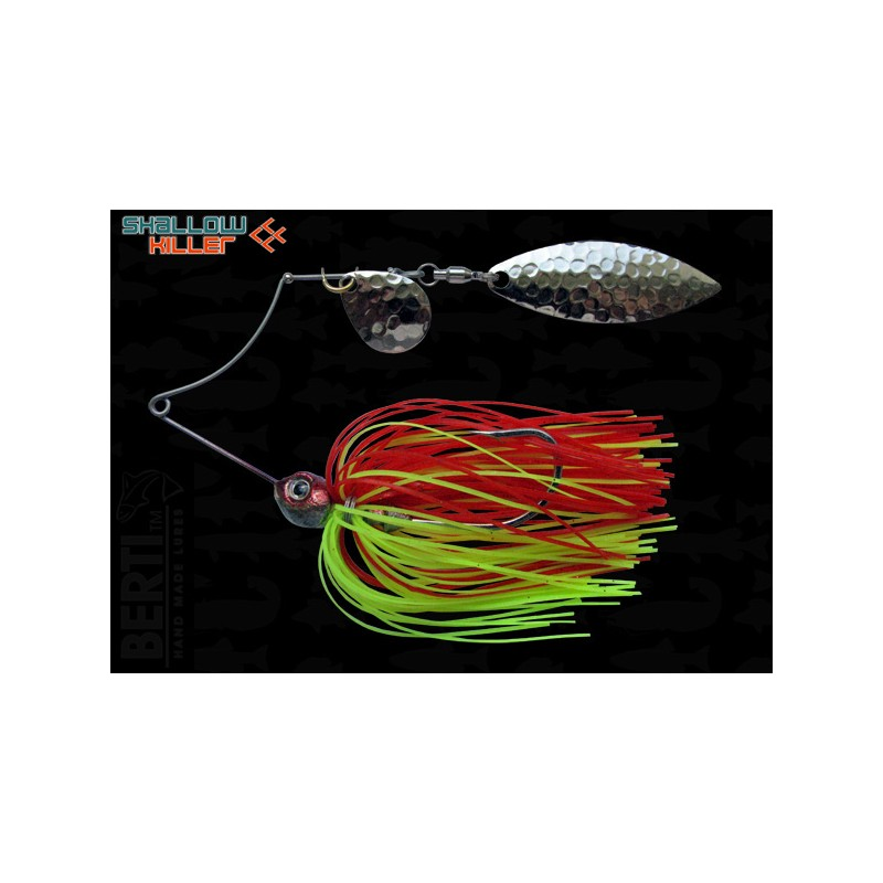 Spinnerbait Berti Shallow Killer, 11g, Rosu-Chartreuse , Colorado Salcie
