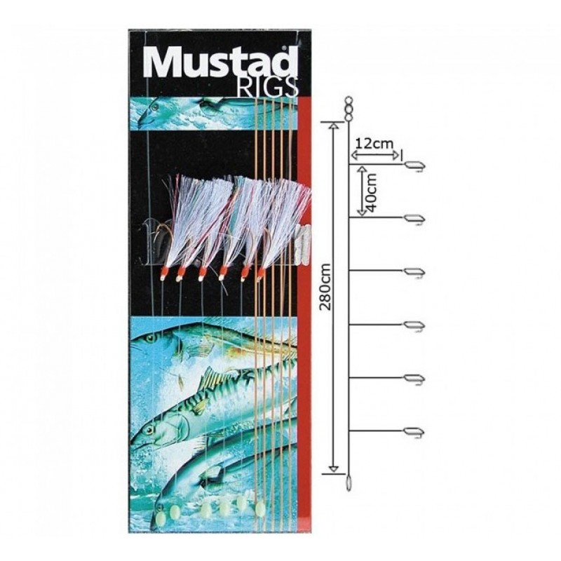 Taparina Mustad Rainbow Flasher Nr 6 5buc/plic
