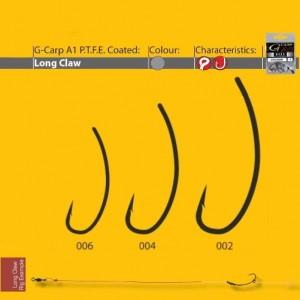 Carlige Gamakatsu A1 G-Carp Long Claw PTFE Nr 4