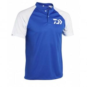 Tricou Daiwa Polo MAO Fast Dry Bleu/Alb XXL